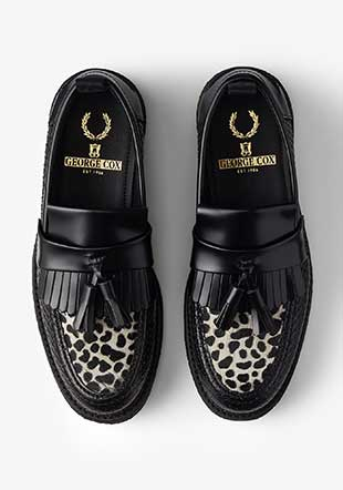 George Cox Embossed/Texturd Tassel Loafer