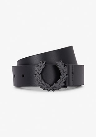 Laurel Wreath Leather Belt