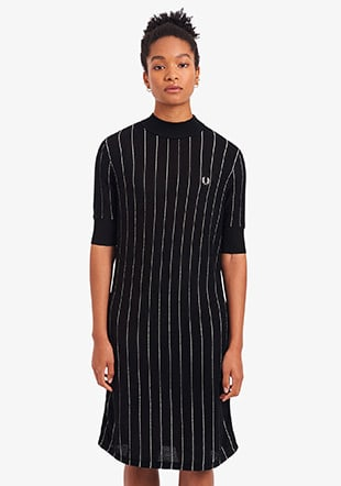 Pinstripe Knitted Dress