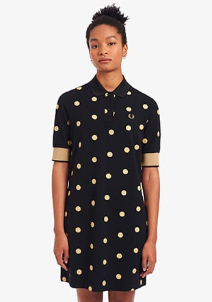 Spot Print Pique Dress