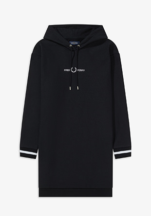 Branded Hooded Sweat Dress