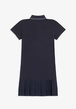 Pleated Pique Dress