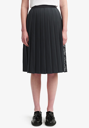 Taped Pleated Skirt