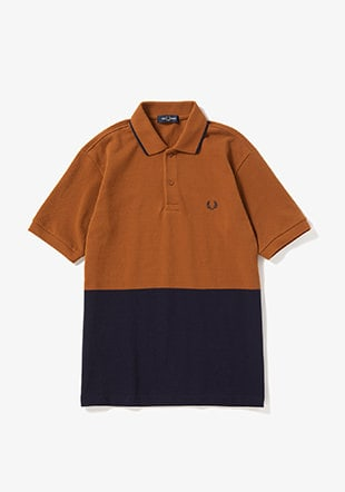 Colour Block Pique Shirt
