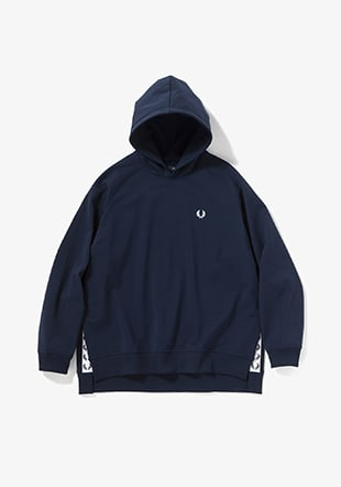 Taped Hooded Sweatshirt