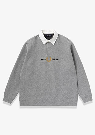 Long Sleeve Sweat Polo Shirt