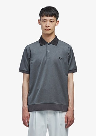 Velour Collar Polo Shirt