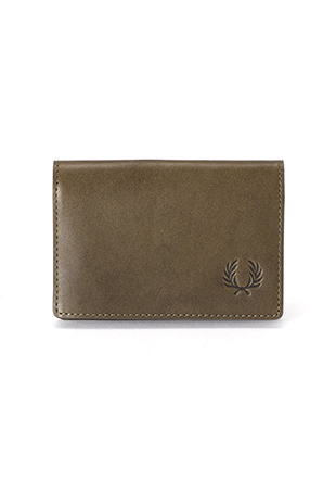Laurel Leaf Dyed Leather Card Case
