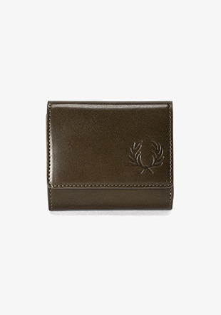 Laurel Leaf Dyed Leather Compact Wallet