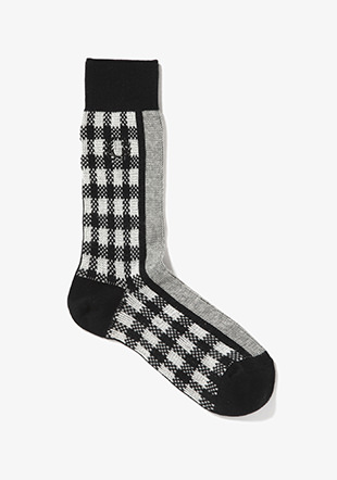 Gingham Middle Socks
