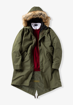 Men Fishtail Parka