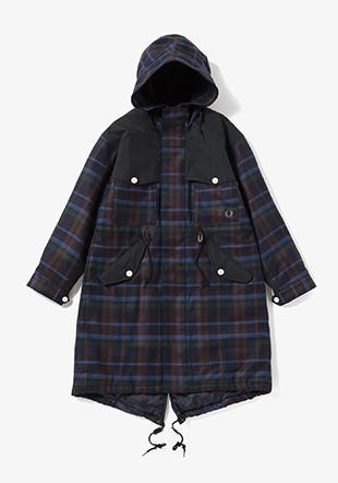 Men Panelled Fishtail Parka