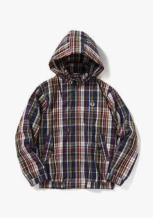 Madras Check Harrington Jacket
