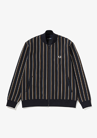 Striped Bomber Jacket