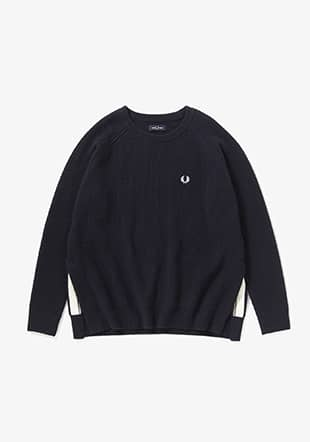 Twin Tipped Crew Neck Knit
