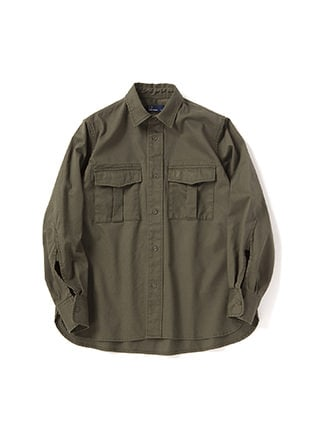 Laurel Leaf Dyed Military Shirt