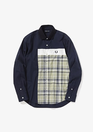 Mix Panelled Shirt