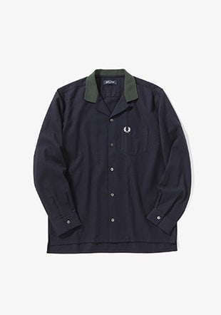Ribbed Collar Revere Shirt