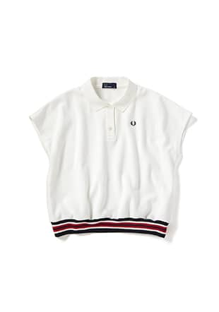 Ribbed Hem Polo Shirt