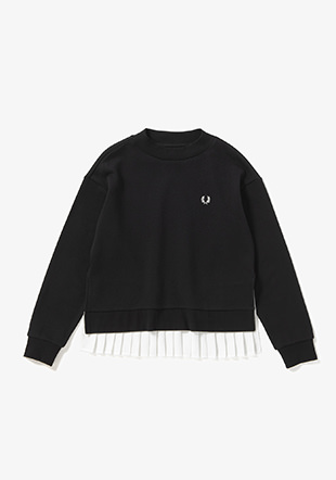 Pleated Back Sweatshirt