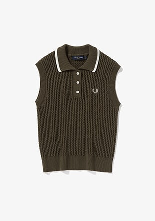 Sleeveless Knitted Polo Shirt