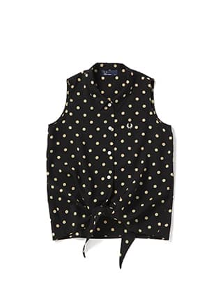 Polka Dot Sleeveless Shirt