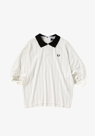 Rib Collar Stripe Shirt