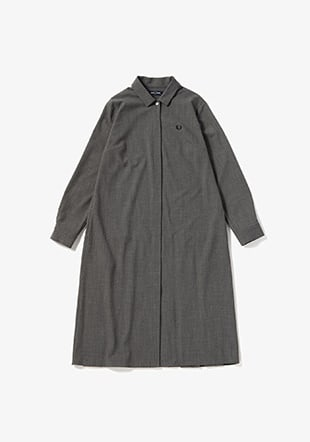 Pleated Back Shirtdress