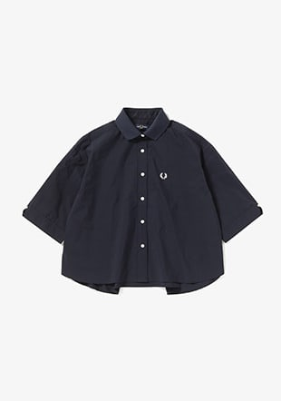 Ribbed Collar Shirt