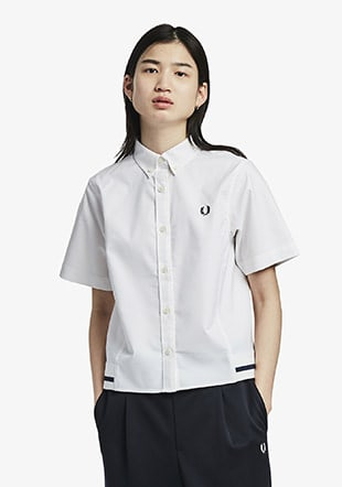 Oxford Ribbed Hem Shirt