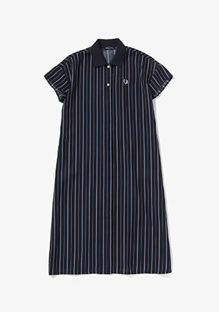 Striped Short Sleeve Shirt Dress