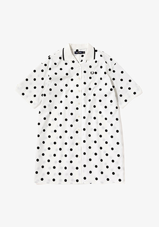 Dot Revere Shirt Dress