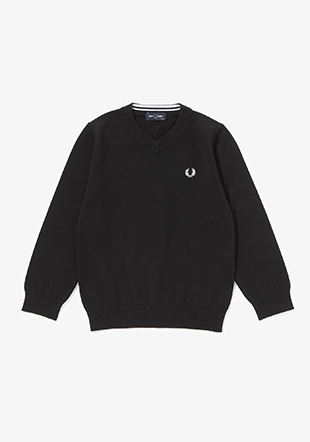 Kids Classic V Neck Jumper