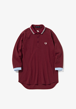 Luminous Tip-line Cropped Sleeve Polo Shirt