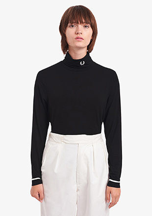 High Neck Long Sleeve Top