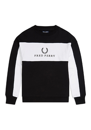 Panel Embroidered Sweatshirt