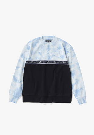 Taped Tie-Dye Sweatshirt