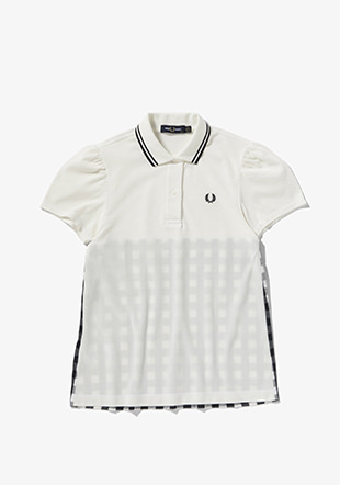 Gingham Panel Polo Shirt