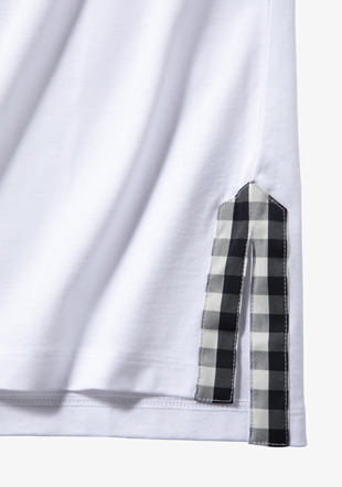 Gingham Trim T-Shirt