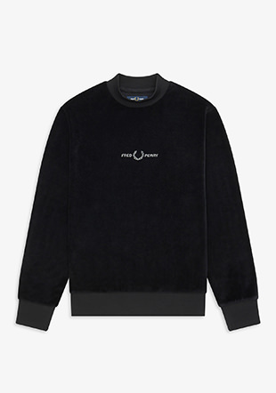 Velour Embroidered Sweatshirt