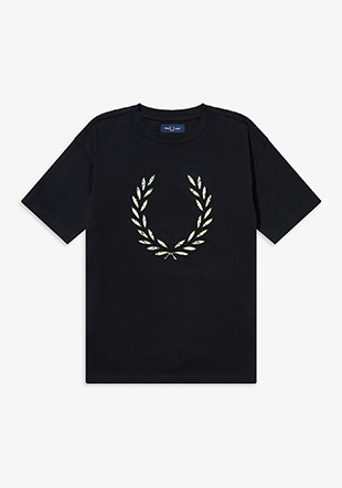 Floral Laurel Wreath T-Shirt