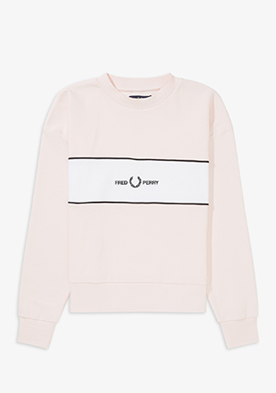 Satin Trim Embroidered Sweat