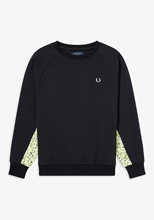 Floral Trim Sweatshirt