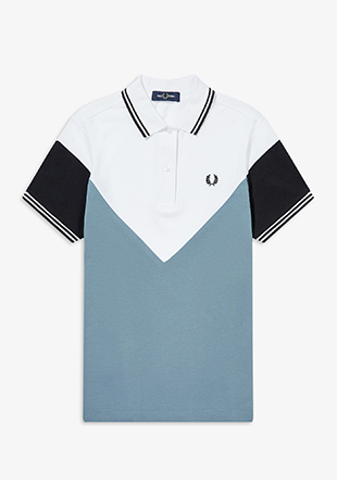 Chevron Detail Polo Shirt
