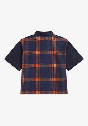 Tartan Panel Polo Shirt
