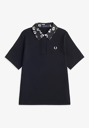 Printed Collar Polo Shirt