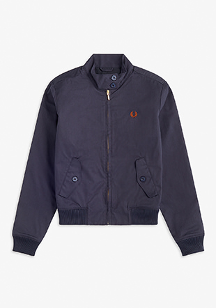 Pleated Harrington Jacket