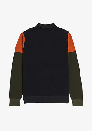 Colour Block Knitted Shirt