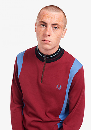 Funnel Neck Knitted Jumper