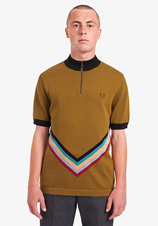 Funnel Neck Knitted Shirt